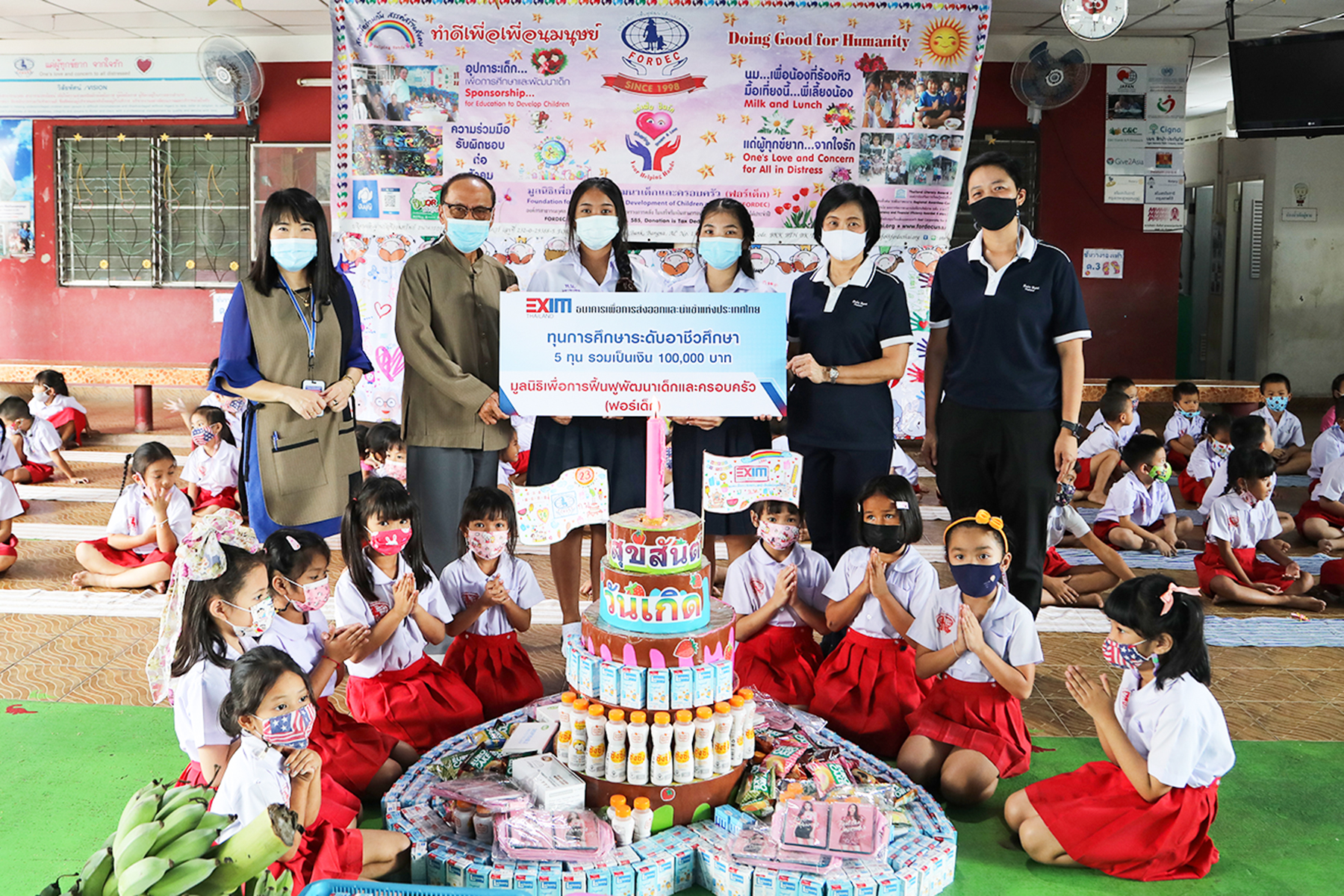 EXIM Thailand Gives Vocational Education Scholarships and Donation to Thai Youth and Children through FORDEC